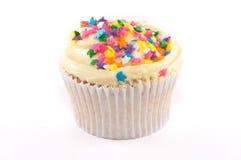 Cupcake met het gele berijpen Stock Afbeelding