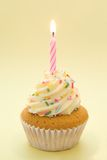 Cupcake met Kaars royalty-vrije stock fotografie