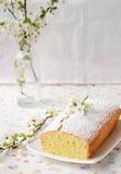 Cupcake met kwark Stock Fotografie
