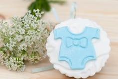 Cupcake met mastiek Royalty-vrije Stock Foto