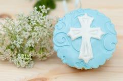 Cupcake met mastiek Stock Foto's