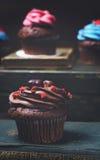 Cupcake met mini-Harten Stock Afbeelding