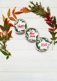 Cupcake met Nieuwjaarbericht Royalty-vrije Stock Foto