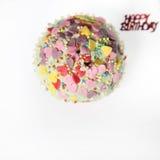 Cupcake met Suiker die met bovenkant wordt gegoten Royalty-vrije Stock Fotografie