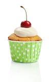 Cupcake met verse kers Royalty-vrije Stock Foto
