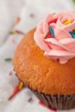 Cupcake met wervelingen van romig Royalty-vrije Stock Afbeelding