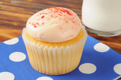 Cupcake and milk Royalty Free Stock Photos