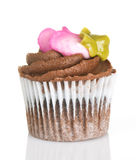 Cupcake Mini With Chocolate Frosting And Rosette Royalty Free Stock Photo