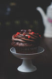 Cupcake with Mini-Hearts Royalty Free Stock Photography