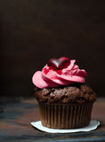 Cupcake with Mini-Hearts Royalty Free Stock Photos