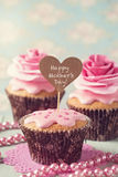 Cupcake  for Mother's Day Royalty Free Stock Image