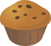 Cupcake muffin. Chocolate chip cupcake muffin. Vector isometric illustration Stock Images