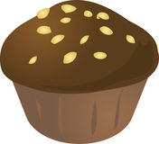 Cupcake muffin. Chocolate nuts cupcake muffin. Vector isometric illustration Royalty Free Stock Images