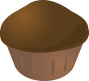 Cupcake muffin. Chocolate icing cupcake muffin. Vector isometric illustration Royalty Free Stock Images