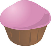 Cupcake muffin. Pink icing cupcake muffin. Vector isometric illustration Royalty Free Stock Photography