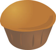Cupcake muffin. Plain baked cupcake muffin. Vector isometric illustration Stock Image