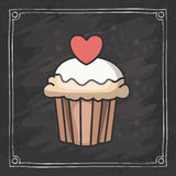 Cupcake muffin of bakery design Royalty Free Stock Photo