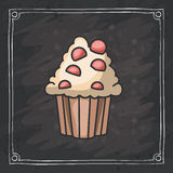 Cupcake muffin of bakery design Royalty Free Stock Images
