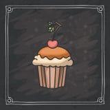 Cupcake muffin of bakery design Stock Photos