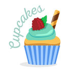 Cupcake or muffin  illustration Stock Images