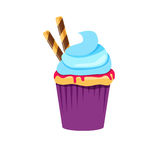Cupcake or muffin  illustration Royalty Free Stock Photos