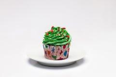 cupcake O conceito do cozimento do Natal fotografia de stock
