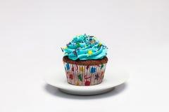 cupcake O conceito do cozimento do Natal imagens de stock
