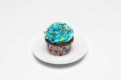 cupcake O conceito do cozimento do Natal fotos de stock royalty free