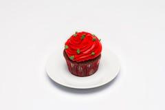 cupcake O conceito do cozimento do Natal imagem de stock