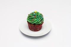 cupcake O conceito do cozimento do Natal fotos de stock