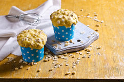Cupcake with oats and nuts Stock Image