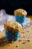 Cupcake with oats and nuts Stock Photography