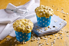 Cupcake with oats and nuts Royalty Free Stock Photography