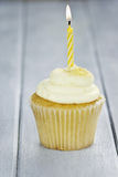 Cupcake with One Candle Royalty Free Stock Images