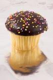 Cupcake op folie Royalty-vrije Stock Afbeelding