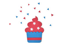 Cupcake paper cut on white background Royalty Free Stock Photography