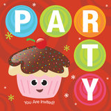 Cupcake Party Invitation. Illustration of Party Invitation with cupcake and cherry Royalty Free Stock Image