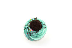 Cupcake pastel color on top view. Stock Image