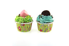 Cupcake pastel color. Royalty Free Stock Image