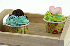 Cupcake pastel color. Stock Photography