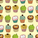 Cupcake pattern Stock Photo