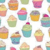 Cupcake pattern Royalty Free Stock Images