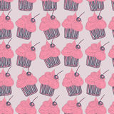 Cupcake pattern Doodle Royalty Free Stock Images