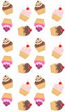 cupcake pattern seamless Stock Photo