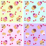 cupcake pattern seamless Stock Images