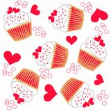 Cupcake pattern seamless Royalty Free Stock Photography