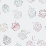 Cupcake pattern Royalty Free Stock Image