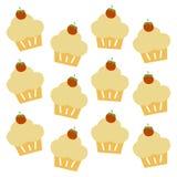 Cupcake pattern Stock Image