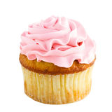 Cupcake with pink cream Stock Photography