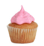 Cupcake with pink icing stock images